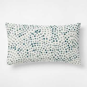 Organic Rolling Dot King/Cal. King Sham, Blue Teal - West Elm