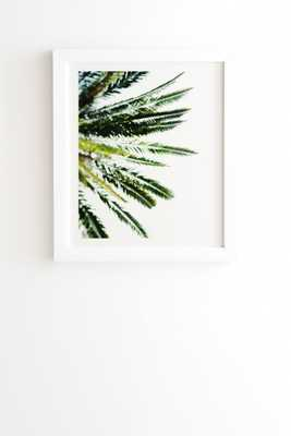 "Beverly Hills Palm Tree by Chelsea Victoria - Framed Wall Art Basic White 14"" x 16.5"" - Wander Print Co."