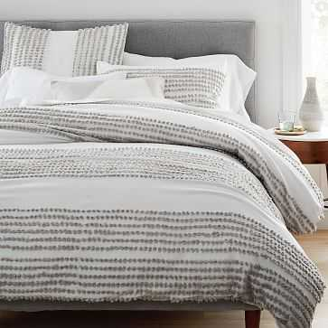 Candlewick Duvet, Full/Queen, Stone Gray + Stone White - West Elm