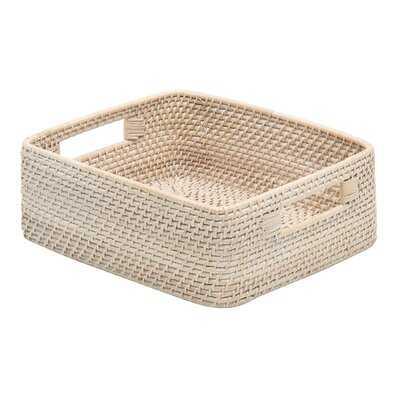 Stretford Rattan Basket - Wayfair