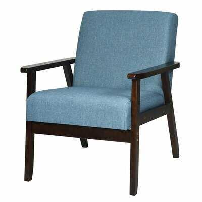 Janyce Solid Rubber Wood Armchair - Wayfair