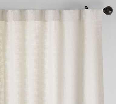 "Chateau Basketweave Blackout Curtain, 50 x 108"", Ivory - Pottery Barn"
