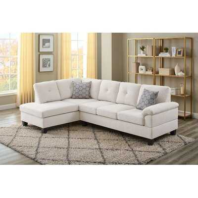 "Azzedine 98"" Chenille Left Hand Facing Sofa & Chaise - Wayfair"