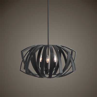 Thales Black Geometric 3 Light Pendant - Hudsonhill Foundry