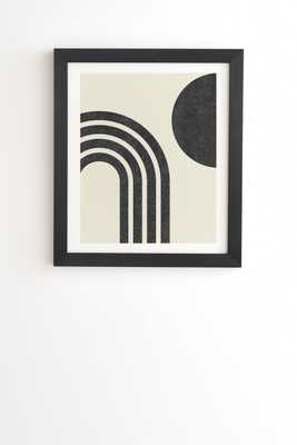 "Mid Century Modern Rainbow Bk by MoonlightPrint - Framed Wall Art Basic Black 14"" x 16.5"" - Wander Print Co."