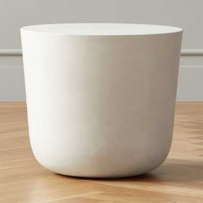 Cap Ivory Cement Side Table - CB2