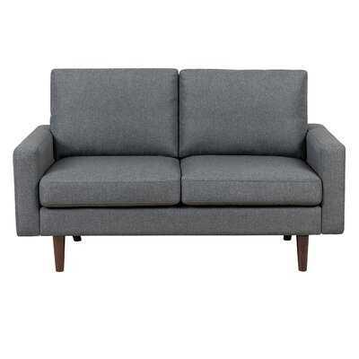 "Gray 100% Polyester Bremond 58"" Square Arm Loveseat - Wayfair"