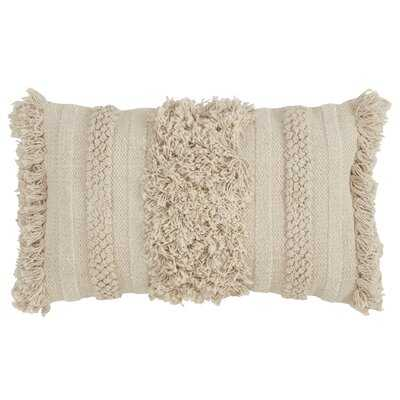 Washington Mews Cotton Feathers Striped Lumbar Pillow - Wayfair