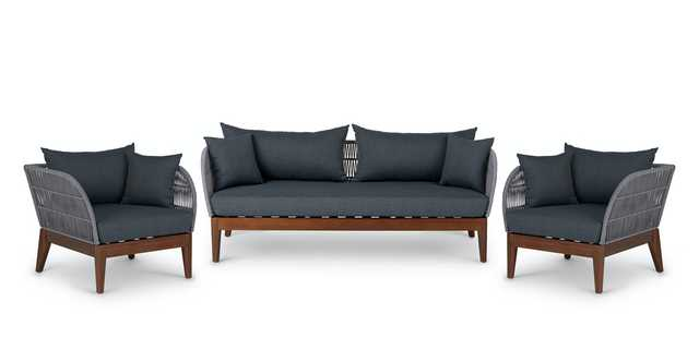 Kotelu Walnut Sofa Set - Article