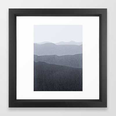 Gradient Landscape Grey Framed Art Print by Iris Lehnhardt - Vector Black - X-Small-12x12 - Society6