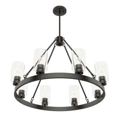 Hartland 8 - Light Candle Style Wagon Wheel Chandelier - Wayfair