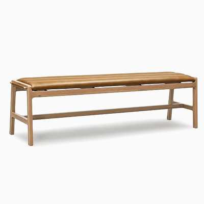 Carlisle Bench Camel Leather Oak - West Elm