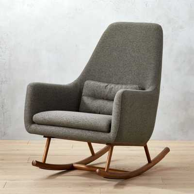 Saic Quantam Charcoal Grey Rocking Chair - CB2