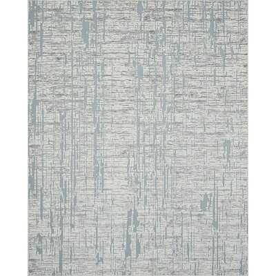 Ryder Contemporary Stripe Area Rug, Blue - Wayfair