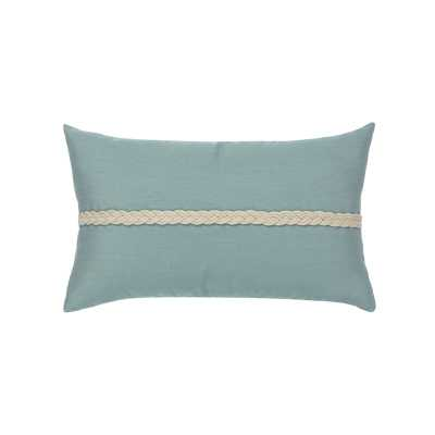 Elaine Smith Spa Braided Indoor/Outdoor Lumbar Pillow Color: Blue - Perigold