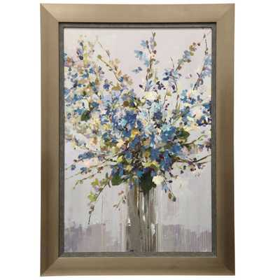 StyleCraft Floral Printed Multi-Color Gel Coated Ready to Hang Framed Wall Art - Home Depot