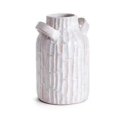 """Vivian Terra Cotta Vase, White, 12""""H - Pottery Barn"""