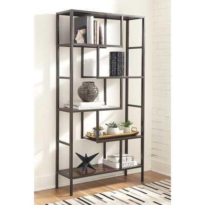 Galan Geometric Etagere Bookcase - Wayfair