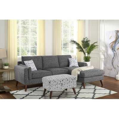 "Marquette 93"" Right Hand Facing Sectional with Ottoman - Wayfair"