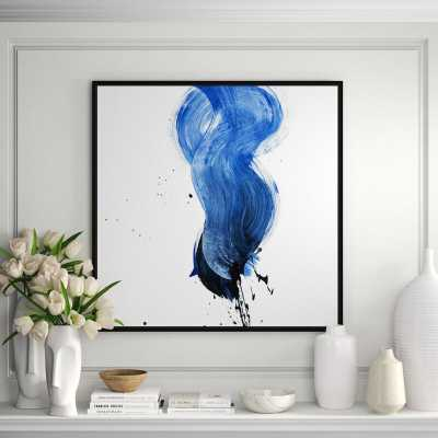 JBass Grand Gallery Collection 'Blue' Framed Print on Canvas - Perigold