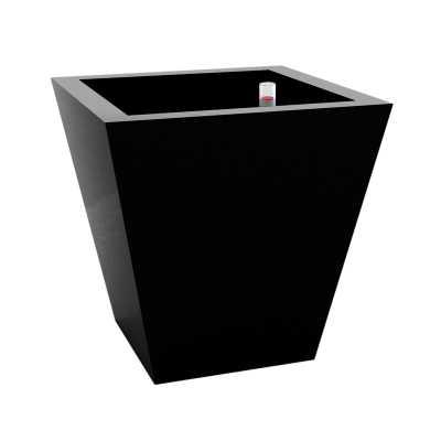 """Vondom Cono Self-Watering Resin Planter Box Color: Black, Size: 11.75"""" H x 11.75"""" W x 11.75"""" D - Perigold"""