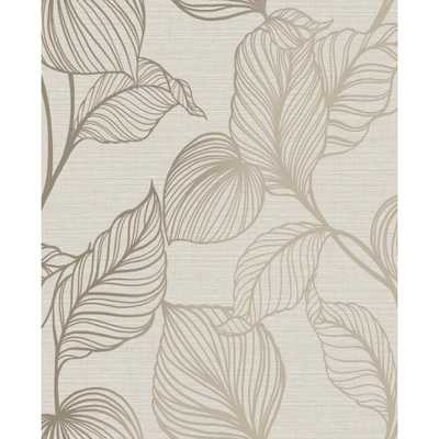 GRAHAM & BROWN Royal Palm Pearl Unpasted Removable Peelable Wallpaper Sample, White - Home Depot