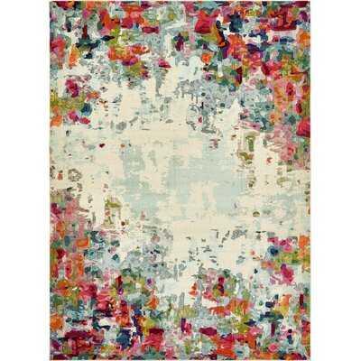 Annmarie Cream Abstract Area Rug - Wayfair
