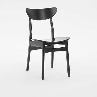 Classic Cafe Lacquer Dining Chair, Black, Set of 2 - West Elm