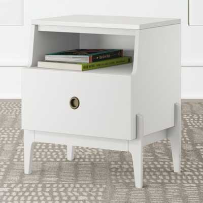 Kids Wrightwood White Nightstand - Crate and Barrel