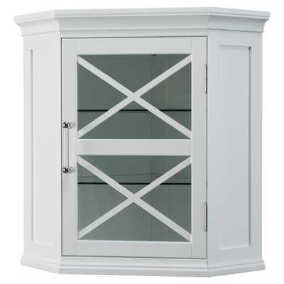 Wall Corner Cabinet White - Elegant Home Fashions - Target