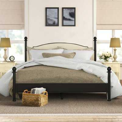 Martine Upholstered Four Poster Bed - Birch Lane