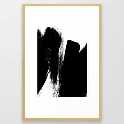 Monochrome Ink 02 Framed Art Print by The Old Art Studio - Conservation Natural - LARGE (Gallery)-26x38 - Society6