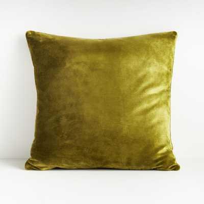 "Regis Green 20"" Velvet Pillow - Crate and Barrel"