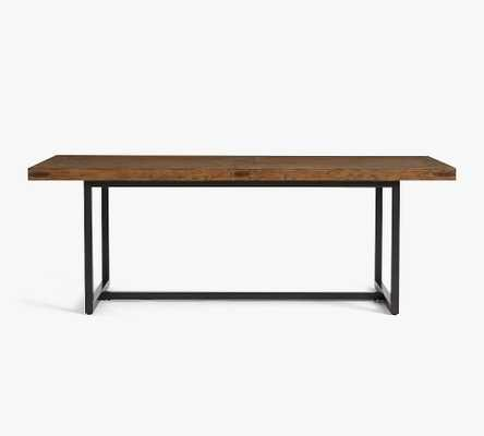 """Malcolm Extending Dining Table, Glazed Pine, 86""""-122""""L - Pottery Barn"""
