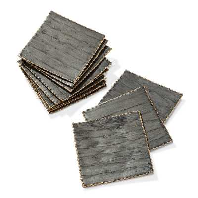 Interlude Hallie Coaster Color: Gray/Antique Gold - Perigold