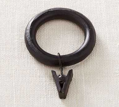 PB Essential Curtain Clip Ring, Single, Large, Cast Iron - Pottery Barn