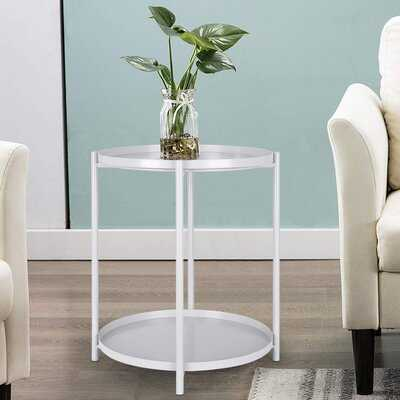 End Table Tray Metal End Table Small Round Side Tables Outdoor & Indoor Table - Wayfair
