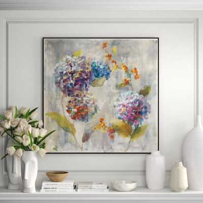 JBass Grand Gallery Collection 'Autumn Hydrangea I' Framed Print on Canvas - Perigold