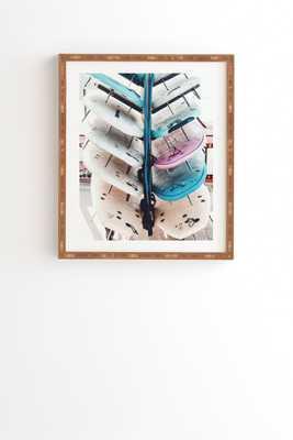 "Ingrid Beddoes Surf Board 3 Framed Wall Art - 8"" x 9.5"" - Wander Print Co."