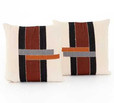 "Scott Striped Pillow, Set of 2, 20"" x 20"", Multi - Pottery Barn"