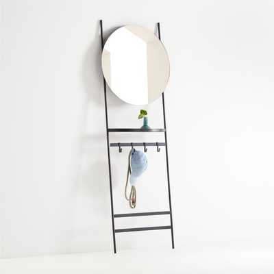 Clay Leaning Mirror with Hooks - Crate and Barrel