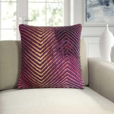 """Kevin O'Brien Studio Velvet Chevron Throw Pillow Color: Wildberry, Size: 22""""H x 22""""W - Perigold"""