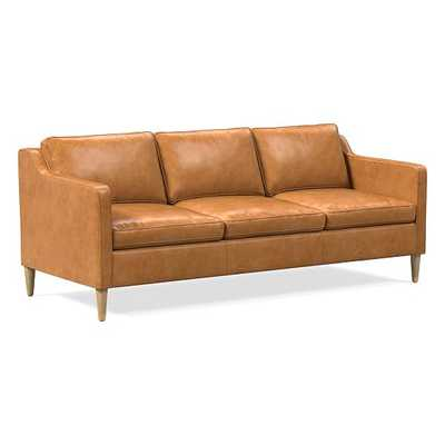 "Hamilton 91"" Sofa, Poly, Charme Leather, Burnt Sienna, Almond - West Elm"