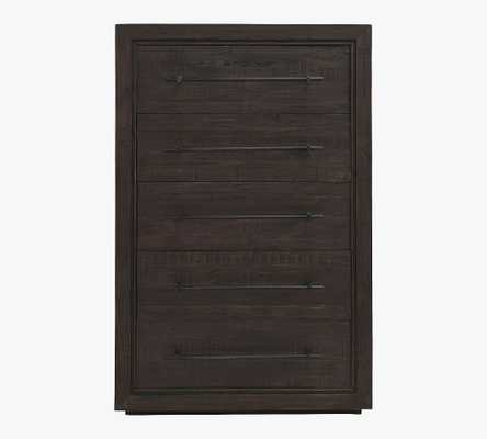 Emile 5-Drawer Tall Dresser, Coffee Bean - Pottery Barn