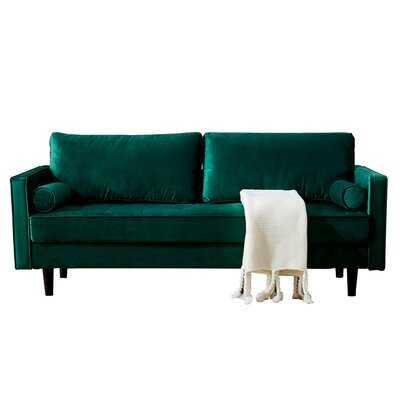 Velvet 76'' Square Arm Sofa - Wayfair
