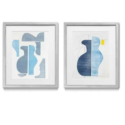 Pottery Forms III - 2 Piece Picture Frame Graphic Art Print Set on Paper - Wayfair