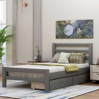 Rowling Wood Storage Platform Bed - Wayfair