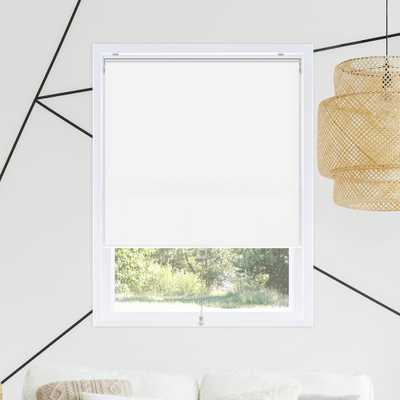 Chicology Snap-N'-Glide White Corldess Light-Filtering Blackout Polyester Roller Shade 23 in. W x 72 in. L, Byssus White (Room Darkening) - Home Depot