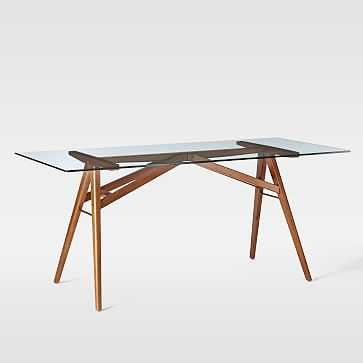 "Jensen Dining Table, 76"", Walnut - West Elm"