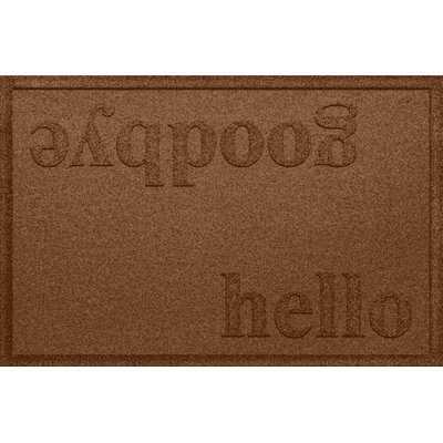 Adona Hello/Goodbye 36 in. x 24 in. Non-Slip Outdoor Door Mat - AllModern